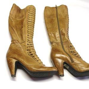 Miz Mooz light brown distressed  leather boots